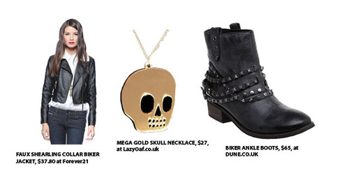 Channel biker and punk with leather and studs!