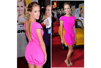 Kristin Cavalleri in bright pink
