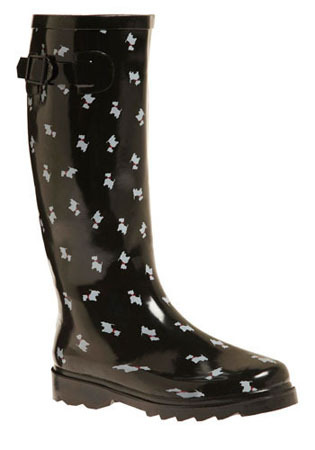 Terrier Firma Rainboots, $34.99, at ModCloth.com