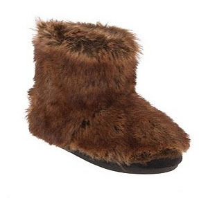 Faux Fur Bootie Slipper, $24, at Urban Outfitters