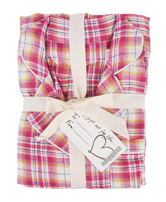 Plaid flannel pajamas, $18, at Forever 21