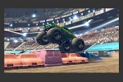 Monster Jam Path of Destruction screenshot crushing cars