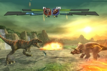 Battle of Giants: Dinosaur strike fighting game screenshot
