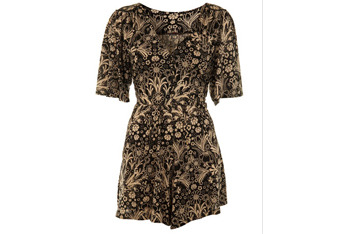 Printed romper, $28, at MissSelfridge.com