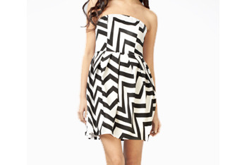 Zig-zag Charlotte dress, $69.99, at FredFlare.com