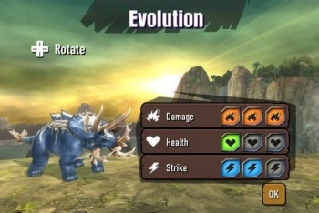 Battle of Giants: Dinosaur strike fighting game screenshot evolution upgrade