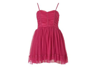 Ruched prom dress, $20, at NewLook.com