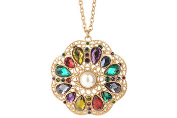 Bold medallion necklace, $6.80, at Forever21.com