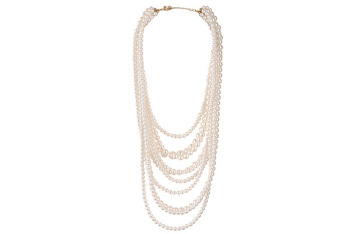Faux pearl 10-layer necklace, $14.80, at Forever21.com