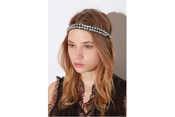 Double strand rhinestone head wrap, $24, at UrbanOutfitters.com