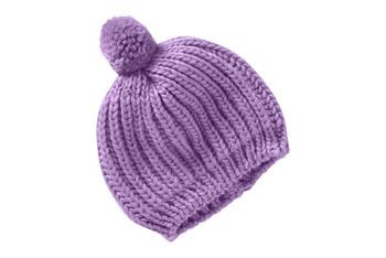 Chunky Knit Pompom beanies, $9.50, at Oldnavy.com