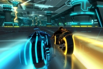 Tron Evolution Battle Grid screenshot light cycle racing