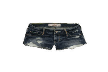 Hollister 'Grandview' dark destroy denim shorts $44.50