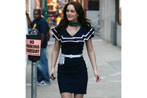 Blair Waldorf in a nautical dress