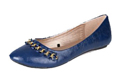 Charlotte Russe Chain-front ballet flats $22.99