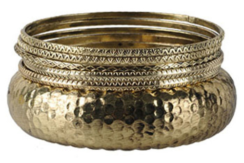 Forever 21 Dimpled Bangle Set $6.80