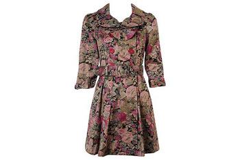 Forever 21 Floral Dress Coat $47.80