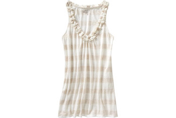 Old Navy U-neck ruffle tank $14.50