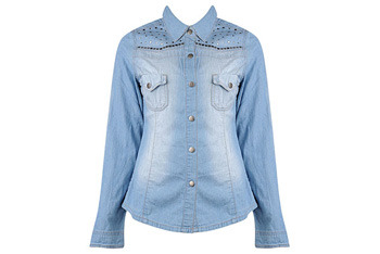Forever 21 Studded Chambray denim shirt $22.80