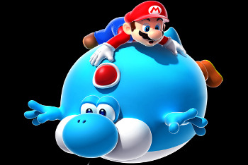 Super Mario Galaxy 2 - Mario and Yoshi Floating