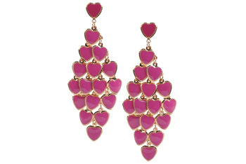 Forever 21 heart earrings