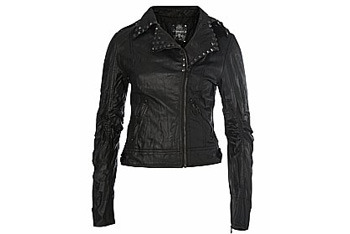 Pyramid Studded Biker Jacket, New Look, $30