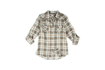 Bluenotes plaid boyfriend shirt, $19.50