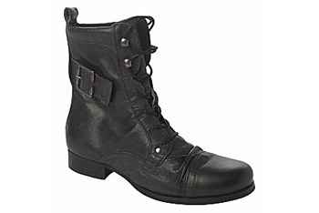 New Look laced leather ankle boots, $80