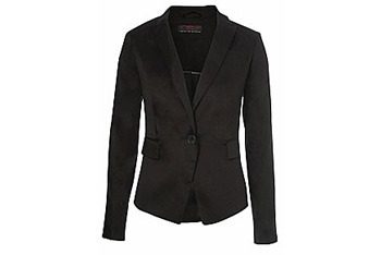 Black sateen blazer from New Look, $35