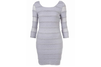 Lace trim body con dress from Topshop, $60