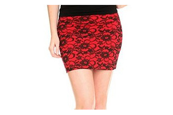 Lace print skirt from Hot Topic, $20