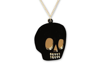 Skull necklace from Lazyoaf.co.uk, $20