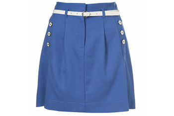 Belted A-line skirt from Topshop, $50