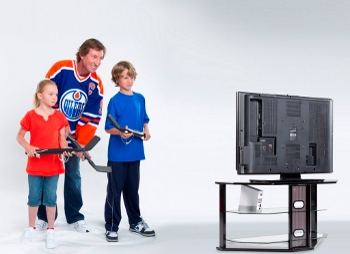 Wayne Gretzky and kids