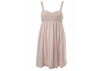 Nude pearl babydoll dress from MissSelfridge.com, $60