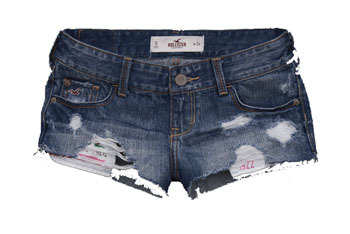 Medium destroyed denim shorts (First Tetty) from Hollisterco.com, $49.50