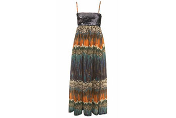 Featherprint maxi dress from MissSelfridge.com, $60
