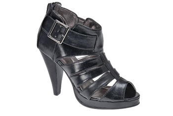 """""""Feliu"""" black strappy heels with buckle from MySpringShoes.com, $29"""