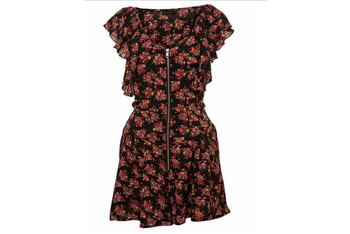 Floral romper from MissSelfridge.com, $50