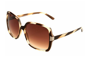 Brown stripe Margo sunglasses from MissSelfridge.com, $18
