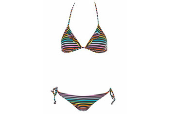 Rainbow stripe frill bikini from Topshop.com, $50