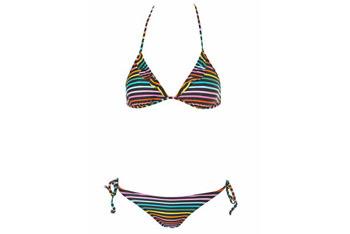 Rainbow stripe frill bikini from Topshop.com, $50