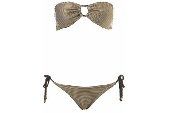 Gold and black bandeau bikini from MissSelfridge.com, $35