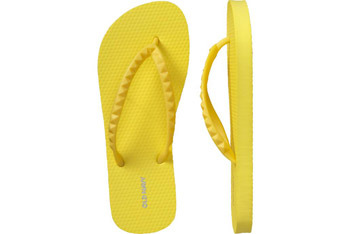 Yellow pyramid flip flops from OldNavy.com, $3.50
