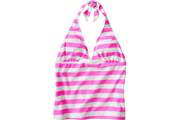 Pink striped tankini top from OldNavy.com, $19.50