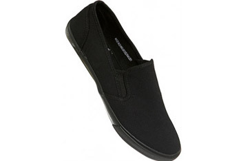 Black slip on plimsolls from www.Topman.com, $23