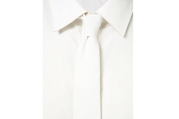 White denim slim tie from www.Topman.com, $15