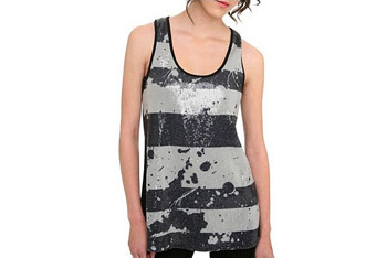 Sweet Lace black and grey tank from Hot Topic, $20