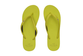 Flip flops from Hollister, $9
