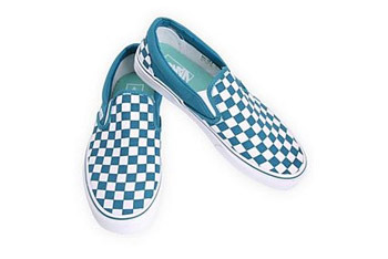 Vans ocean blue checker slip ons from Hot Topic, $39.99